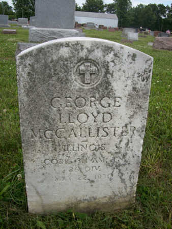 MCCALLISTER, CORP. GEORGE LLOYD - Hancock County, Illinois | CORP. GEORGE LLOYD MCCALLISTER - Illinois Gravestone Photos