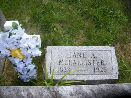 MCCALLISTER, JANE ANN - Hancock County, Illinois   JANE ANN MCCALLISTER - Illinois Gravestone Photos