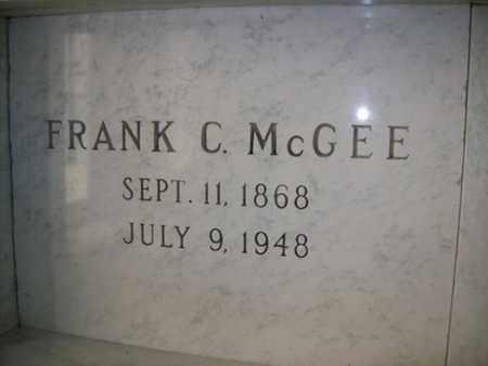 MCGEE, FRANK C - Hancock County, Illinois | FRANK C MCGEE - Illinois Gravestone Photos