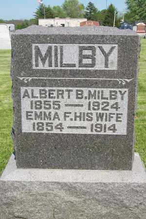 MILBY, ALBERT BEARLY - Hancock County, Illinois | ALBERT BEARLY MILBY - Illinois Gravestone Photos