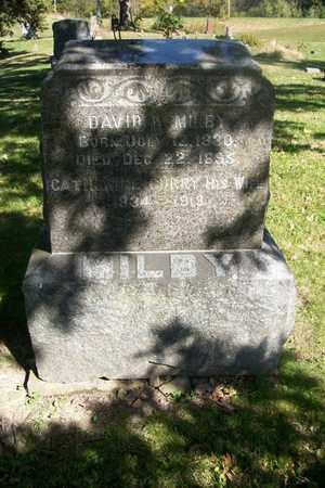 MILBY, DAVID WILSON - Hancock County, Illinois | DAVID WILSON MILBY - Illinois Gravestone Photos