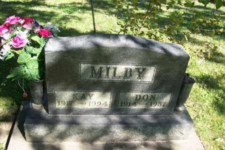 MILBY, DONALD DEAN - Hancock County, Illinois | DONALD DEAN MILBY - Illinois Gravestone Photos