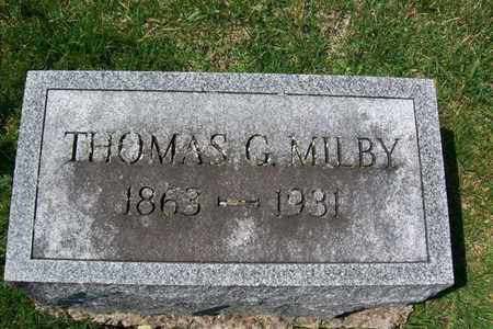 MILBY, THOMAS GILBERT - Hancock County, Illinois | THOMAS GILBERT MILBY - Illinois Gravestone Photos