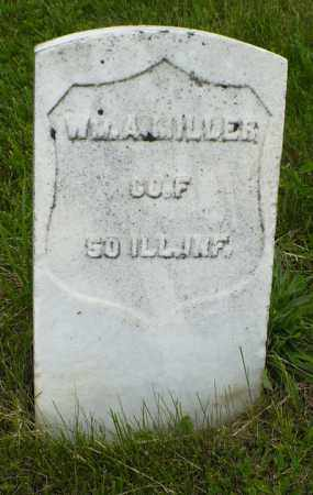 MILLER, WM. A. - Hancock County, Illinois | WM. A. MILLER - Illinois Gravestone Photos