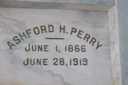 PERRY, ASHFORD PERRY - Hancock County, Illinois | ASHFORD PERRY PERRY - Illinois Gravestone Photos