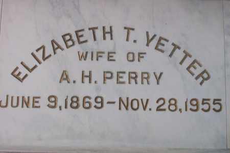 YETTER PERRY, ELIZABETH TULL - Hancock County, Illinois   ELIZABETH TULL YETTER PERRY - Illinois Gravestone Photos