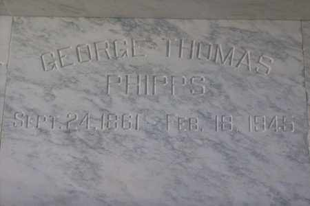 PHIPPS, GEORGE THOMAS - Hancock County, Illinois | GEORGE THOMAS PHIPPS - Illinois Gravestone Photos