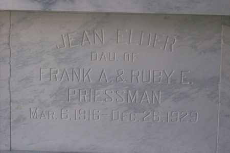 PRIESSMAN, JEAN ELDER - Hancock County, Illinois | JEAN ELDER PRIESSMAN - Illinois Gravestone Photos