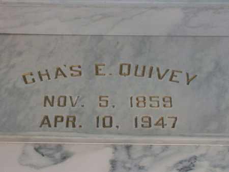 QUIVEY, CHARLES EDWARD - Hancock County, Illinois | CHARLES EDWARD QUIVEY - Illinois Gravestone Photos