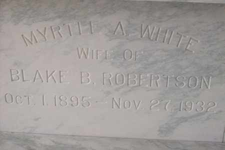 WHITE ROBERTSON, MYRTLE ALICE - Hancock County, Illinois | MYRTLE ALICE WHITE ROBERTSON - Illinois Gravestone Photos