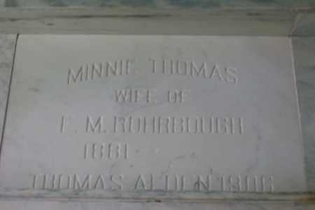 ROHRBOUGH, THOMAS ALDEN - Hancock County, Illinois | THOMAS ALDEN ROHRBOUGH - Illinois Gravestone Photos