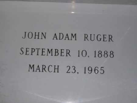 RUGER, JOHN ADAM - Hancock County, Illinois   JOHN ADAM RUGER - Illinois Gravestone Photos