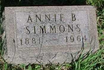 SIMMONS, ANNIE B. - Hancock County, Illinois | ANNIE B. SIMMONS - Illinois Gravestone Photos