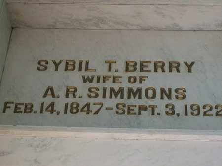 SIMMONS, SYBIL T. - Hancock County, Illinois | SYBIL T. SIMMONS - Illinois Gravestone Photos