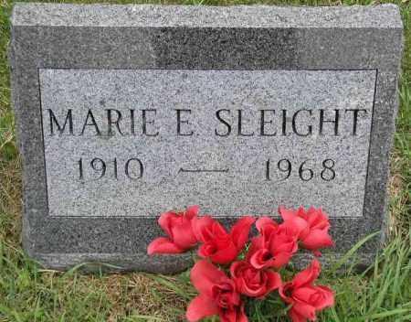SLEIGHT, MARIE E. - Hancock County, Illinois   MARIE E. SLEIGHT - Illinois Gravestone Photos