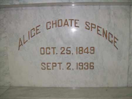 CHOATE SPENCE, MARTHA ALICE - Hancock County, Illinois   MARTHA ALICE CHOATE SPENCE - Illinois Gravestone Photos
