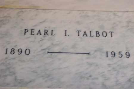 TALBOT, PEARL INEZ - Hancock County, Illinois   PEARL INEZ TALBOT - Illinois Gravestone Photos