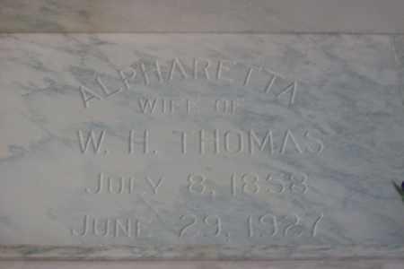THOMAS, ALPHARETTA - Hancock County, Illinois | ALPHARETTA THOMAS - Illinois Gravestone Photos