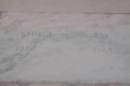THOMAS, GEORGE M. - Hancock County, Illinois   GEORGE M. THOMAS - Illinois Gravestone Photos
