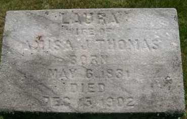 THOMAS, LAURA - Hancock County, Illinois | LAURA THOMAS - Illinois Gravestone Photos