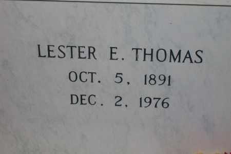 THOMAS, LESTER E. - Hancock County, Illinois   LESTER E. THOMAS - Illinois Gravestone Photos