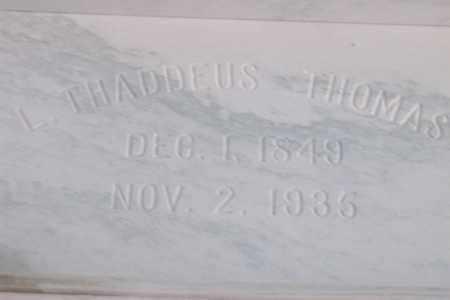 THOMAS, LILBURN THADDEUS - Hancock County, Illinois   LILBURN THADDEUS THOMAS - Illinois Gravestone Photos
