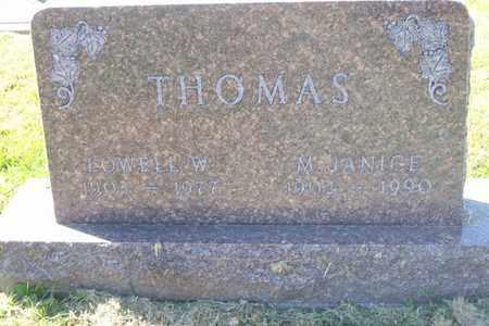 THOMAS, LOWELL W. - Hancock County, Illinois | LOWELL W. THOMAS - Illinois Gravestone Photos