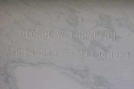 THOMPSON, GEORGE WILKE - Hancock County, Illinois | GEORGE WILKE THOMPSON - Illinois Gravestone Photos