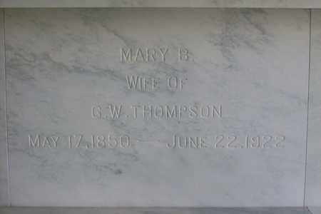 THOMPSON, MARY - Hancock County, Illinois | MARY THOMPSON - Illinois Gravestone Photos