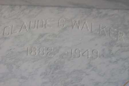 WALKER, CLAUDE CURRY - Hancock County, Illinois | CLAUDE CURRY WALKER - Illinois Gravestone Photos