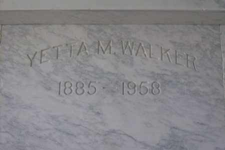 WALKER, YETTA MAY - Hancock County, Illinois | YETTA MAY WALKER - Illinois Gravestone Photos