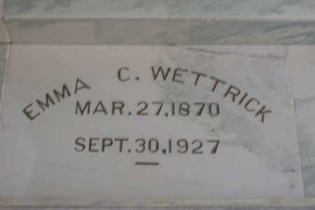 WETTRICK, EMMA CHRISTINA - Hancock County, Illinois | EMMA CHRISTINA WETTRICK - Illinois Gravestone Photos