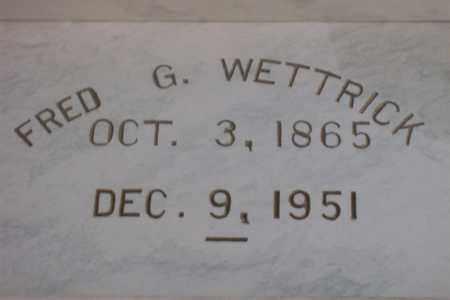 WETTRICK, FREDERICK G. L. - Hancock County, Illinois | FREDERICK G. L. WETTRICK - Illinois Gravestone Photos