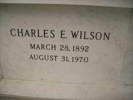 WILSON, CHARLES E. - Hancock County, Illinois | CHARLES E. WILSON - Illinois Gravestone Photos