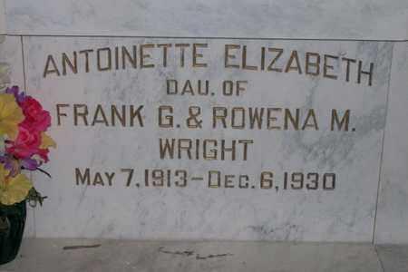 WRIGHT, ANTOINETTE ELIZABETH - Hancock County, Illinois | ANTOINETTE ELIZABETH WRIGHT - Illinois Gravestone Photos