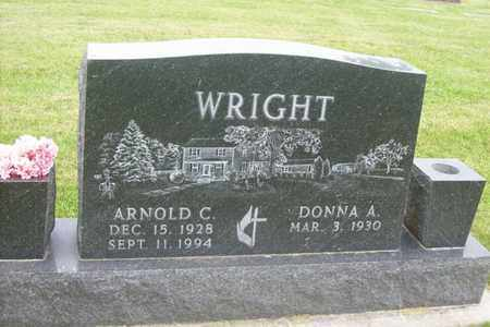 WRIGHT, ARNOLD C. - Hancock County, Illinois | ARNOLD C. WRIGHT - Illinois Gravestone Photos
