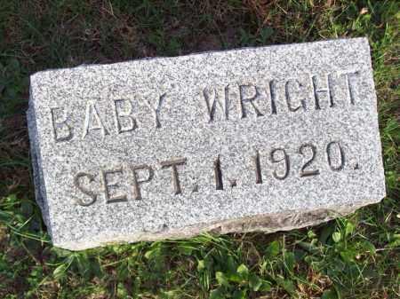 WRIGHT, BABY - Hancock County, Illinois   BABY WRIGHT - Illinois Gravestone Photos