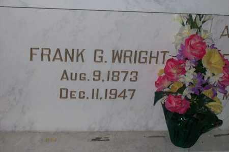 WRIGHT, FRANK GREENLEAF - Hancock County, Illinois   FRANK GREENLEAF WRIGHT - Illinois Gravestone Photos