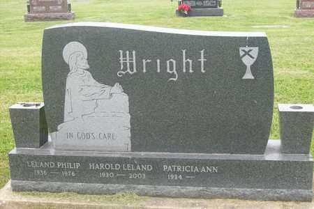 WRIGHT, HAROLD LELAND - Hancock County, Illinois   HAROLD LELAND WRIGHT - Illinois Gravestone Photos