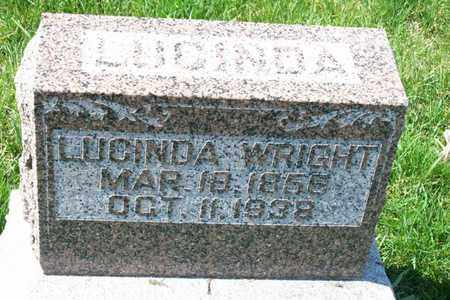 WRIGHT, LUCINDA - Hancock County, Illinois | LUCINDA WRIGHT - Illinois Gravestone Photos