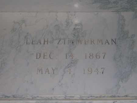 SCHLABACH ZIMMERMAN, LEAH - Hancock County, Illinois | LEAH SCHLABACH ZIMMERMAN - Illinois Gravestone Photos