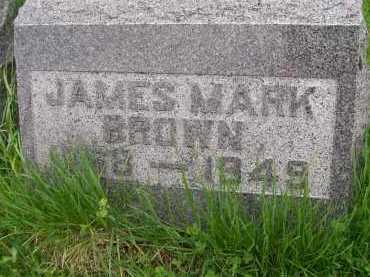 BROWN, JAMES MARK - Henderson County, Illinois | JAMES MARK BROWN - Illinois Gravestone Photos
