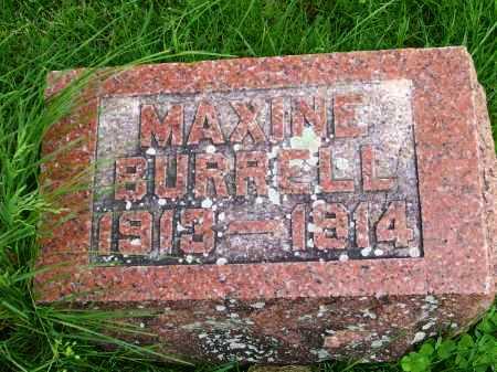 BURRELL, MAXINE - Henderson County, Illinois | MAXINE BURRELL - Illinois Gravestone Photos