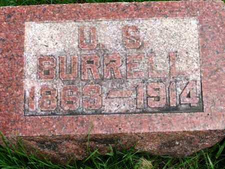 BURRELL, ULYSSES SYLVESTER - Henderson County, Illinois | ULYSSES SYLVESTER BURRELL - Illinois Gravestone Photos