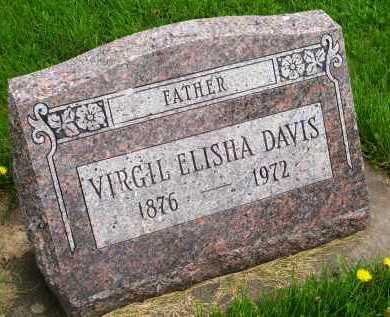 DAVIS, VIRGIL ELISHA - Henderson County, Illinois | VIRGIL ELISHA DAVIS - Illinois Gravestone Photos