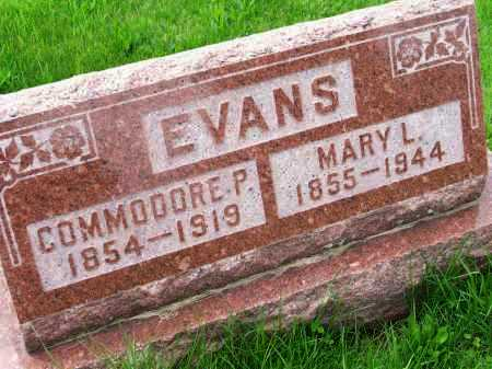 EVANS, COMMODORE PERRY - Henderson County, Illinois | COMMODORE PERRY EVANS - Illinois Gravestone Photos