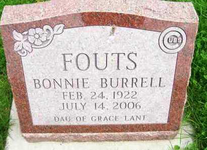 BURRELL FOUTS, BONNIE - Henderson County, Illinois | BONNIE BURRELL FOUTS - Illinois Gravestone Photos