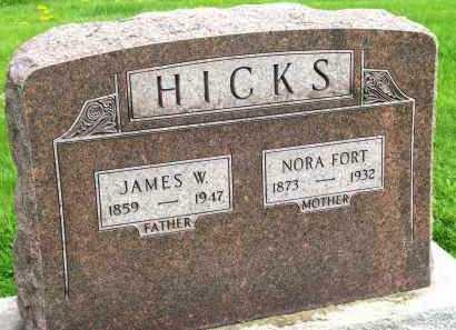 HICKS, NORA - Henderson County, Illinois | NORA HICKS - Illinois Gravestone Photos