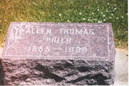 PRIER, ALLEN THOMAS - Henderson County, Illinois | ALLEN THOMAS PRIER - Illinois Gravestone Photos