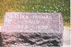 PRIER, ALLEN THOMAS - Henderson County, Illinois   ALLEN THOMAS PRIER - Illinois Gravestone Photos